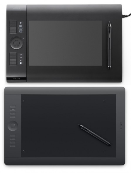 Intuos4 (above) vs Intuos5 (below)