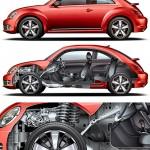 Jim Hatch - VW Beetle Cutaway Illustration