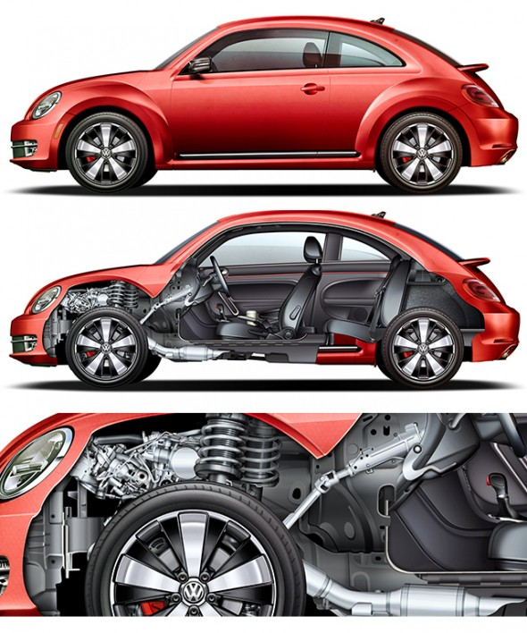 Jim Hatch - VW Beetle Cutaway Illustration