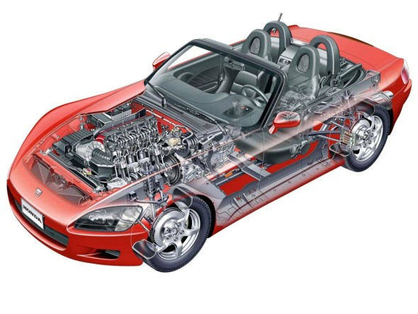 Honda S2000 Cutaway Illustration