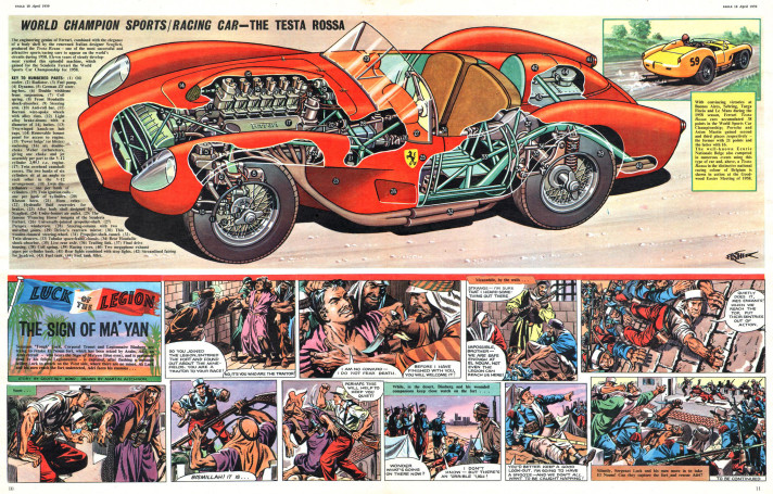 Cutaway Illustration by Walkden Fisher for Eagle Comics