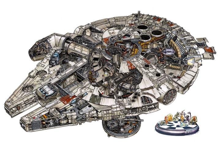 Millenium Falcon Cutaway - Hans Jenssen
