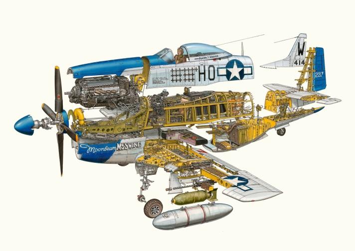P-51 Mustang Cutaway - Hans Jenssen