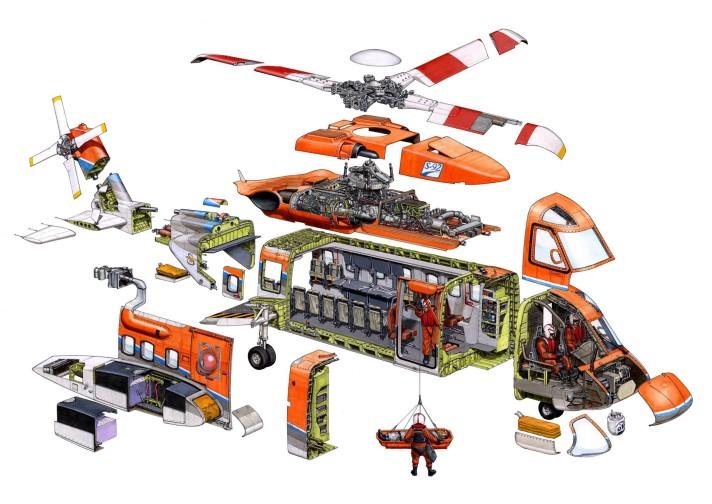 Rescue Helicopter Cutaway - Hans Jenssen