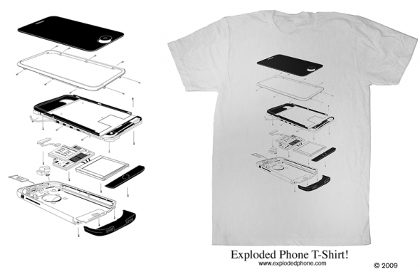 Gary Booth - Exploded iPhone Shirt