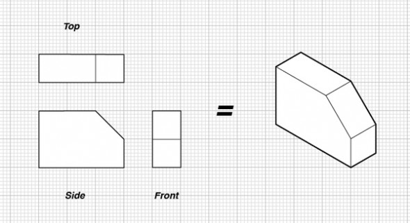 Engineering Drawing - Orthographic Projection, Auxiliary View