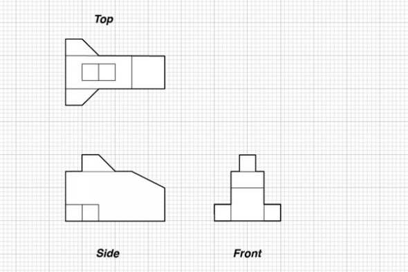 Simple orthographic plans