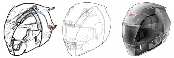 Top Dog Illustration - Helmet Cutaway Process