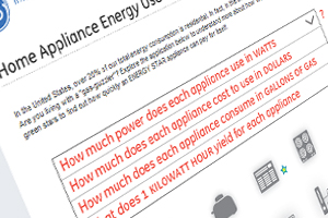 GE: Home Appliance Energy Use