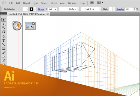 Adobe Illustrator CS5 - Perspective Grid