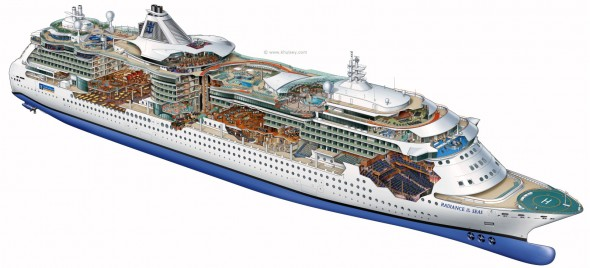 Kevin Hulsey - Radiance of the Seas Cutaway Illustration