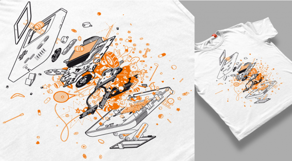 Exploded Gameboy T-Shirt