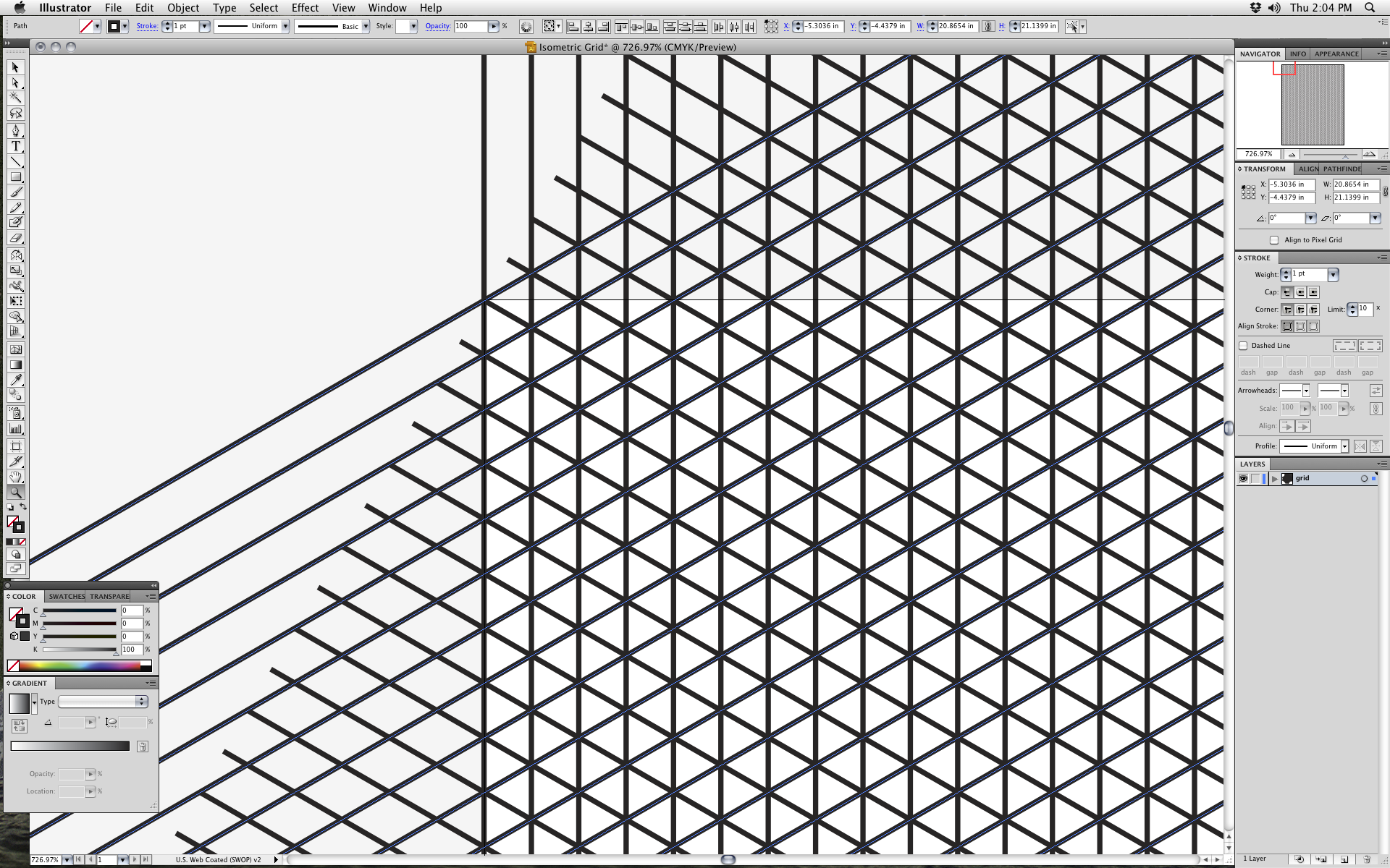 How to Create an Isometric Grid in Adobe Illustrator | Technical ...