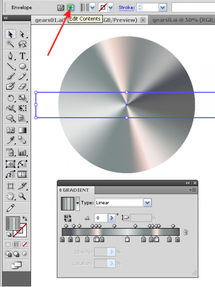 Conical Gradient in Illustrator