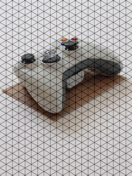 Photo with Isometric Grid