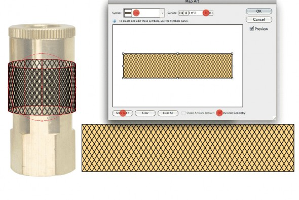 Wrapping Patterns Around Cylinders